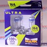 картинка Лампа H4 12V 55W Маяк ULTRA Super Light +100%